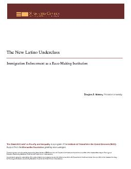 The New Latino Underclass: Immigration Enforcement as a Race-Making In
