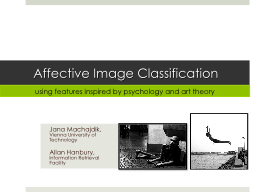 Affective Image Classification