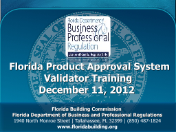 Florida Product Approval System
