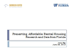 Preserving Affordable Rental Housing PowerPoint PPT Presentation