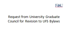 Request from University Graduate Council for Revision to UF PowerPoint PPT Presentation