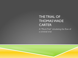 The trial of PowerPoint PPT Presentation