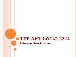 The AFT Local 2274