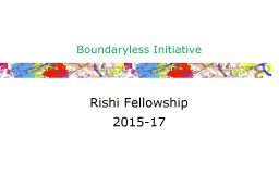 Boundaryless Fellowship