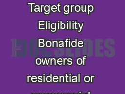 SYND RENT Purpose Any genuine business personal credit requirement Target group Eligibility Bonafide owners of residential or commercial property standing in their own names who have let out the same