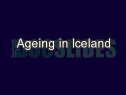 Ageing in Iceland
