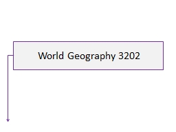World Geography 3202