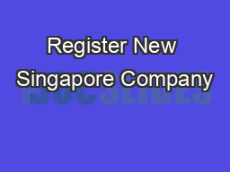 Register New Singapore Company