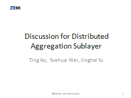 Discussion for Distributed Aggregation