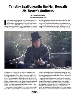 Timothy Spall Unearths the Man Beneath Mr. Turner's GruffnessBY S