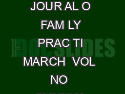 Evidencebased answers from the Family Physicians Inquiries Network  TH JOUR AL O FAM LY PRAC TI MARCH  VOL  NO  CLINICAL INQUIRIES EVID NC BAS D ANSW Jeff Lin MD Gary Kelsberg MD Valley Family Medici
