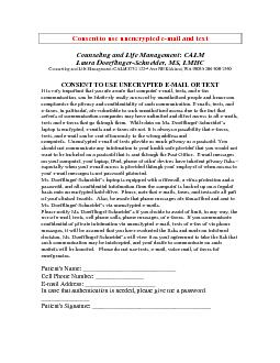 Counseling and Life Management: CALM Laura Doerflinger-Schneider, MS,