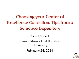 Choosing your Center of Excellence Collection: Tips from a