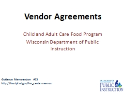Child and Adult Care Food Program PowerPoint PPT Presentation