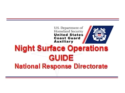 Night Surface Operations