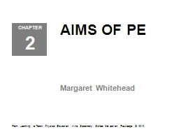 AIMS OF PE