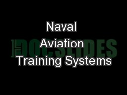 Naval Aviation Training Systems