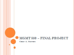 MGMT 580 – PowerPoint PPT Presentation