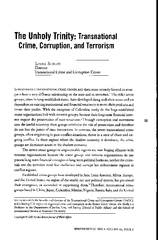 Unholy Trinity: Transnational Crime, Corruption, and