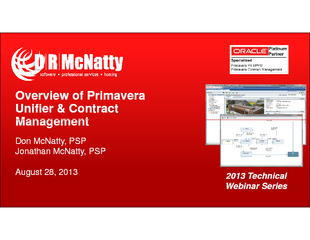 Overview of Primavera Overview of Primavera Unifier & Contract Unifier