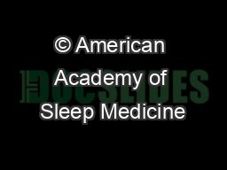 © American Academy of Sleep Medicine