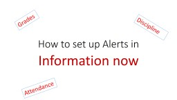 How to set up Alerts in