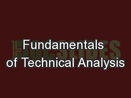 Fundamentals of Technical Analysis