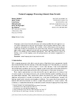 Journal of Machine Learning Research    Su bmitted  Revised  Published  Natural