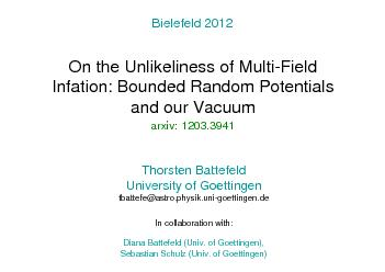 On the Unlikelinessof Multi-FieldInfation: Bounded Random Potentialsan