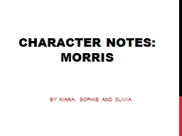Character Notes: