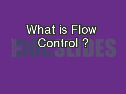 What is Flow Control ?