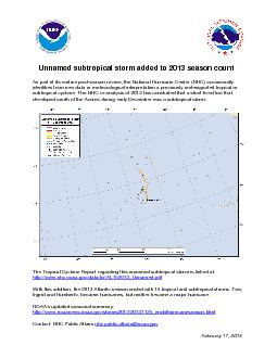 nnamed subtropical storm added to 2013 seasoncountAs part of its routi