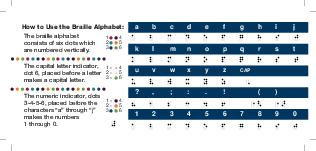 Braille Alphabet The six dots of the braille cell are arranged and numbered The capital sign dot  placed before a letter makes a capital letter