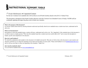 Standards for Mathematical Practice Explanations and Examples 1. Make PowerPoint PPT Presentation