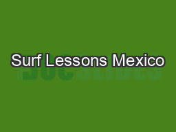 Surf Lessons Mexico