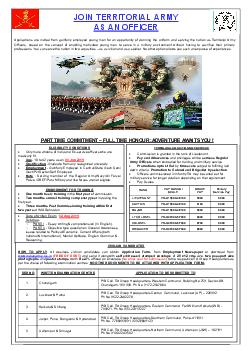 APPLICATION FORM FOR COMMISSION IN THE TERRITORIAL ARMY FOR NON DEPT INF TA PDF document - DocSlides