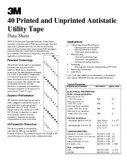 40 Printed and Unprinted AntistaticUtility TapeData Sheet  40 Printed