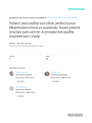 Patientpunctualityandclinicperformance:observationsfromanacademic-base
