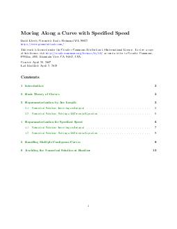 Moving Along a Curve with Specied Speed David Eberly Geometric Tools LLC httpwww PDF document - DocSlides