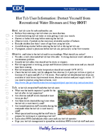 Hot Tub User Information Protect Yourself from Recreational Water Illnesses and Stay HOT eed