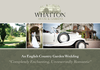 "An English Country Garden Wedding""Completely Enchanting, Unreserv"