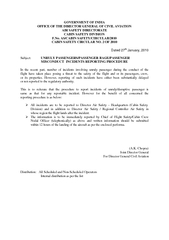 GOVERNMENT OF INDIA OFFICE OF THE DIRECTOR GENERAL OF CIVIL AVIATION A