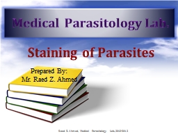 Staining of Parasites