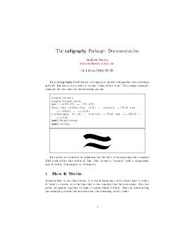 The calligraphy Package Documentation Andrew Stacey staceymath PDF document - DocSlides