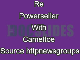Re Powerseller With Cameltoe Source httpnewsgroups