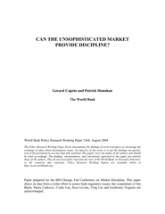World Bank Policy Research Working Paper 3364, August 2004 The Policy