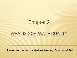 What is software quality PowerPoint PPT Presentation
