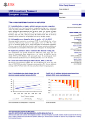UBS Investment ResearchEuropean Utilities The unsubsidised solar revol