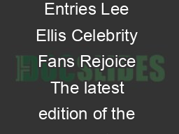 The Celebrity Address Directory  Autograph Collectors Guide with  Entries Lee Ellis Celebrity Fans Rejoice The latest edition of the celebrity directory for autograph fans fundraisers business contac