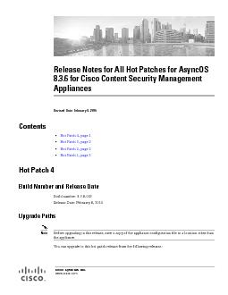 Release Notes for All Hot Patches for AsyncOS 8.3.6 for Cisco Content